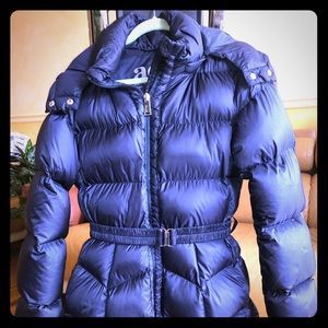 Add down girls hooded jacket with fur